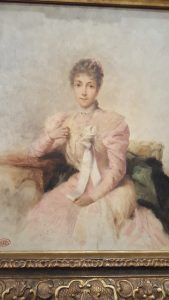 Portrait d'une dame en rose - Théobald Chartran