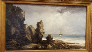 Les roches noires à Tourville - Gustave Courbet (1865)
